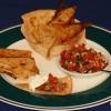 Homemade Tortilla-Chips und Schüsseln (Low Carb)