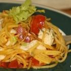 Steckrüben-Spaghetti Caprese (Low Carb, vegetarisch)