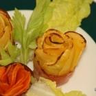 Steckrüben- und Karotten-Rosen (Low Carb)