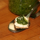 Kohlrabi-Pesto (Resteverwertung / Low Carb)