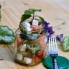 Gurken-Melonensalat mit Minze und Feta (Low Carb)