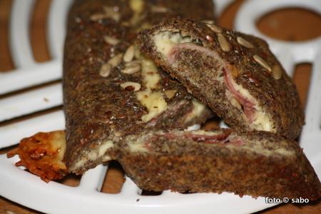 Chia-Schinken-Käse-Baguette