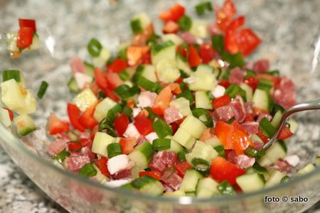 Hüttenkäse-Salat (Low Carb)