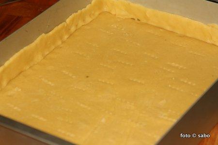 Apfelschnitten oder gedeckter Apfelkuchen
