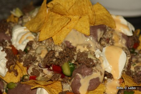 Refried Beans und Loaded Nachos