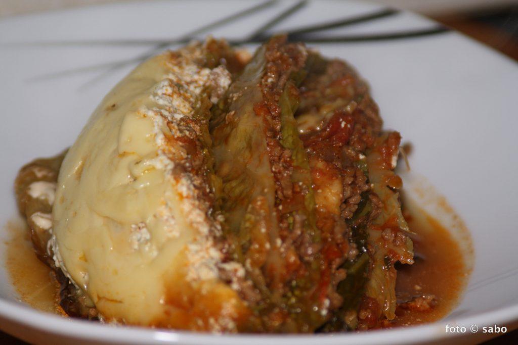 Wirsing-Lasagne aus dem Crocky (Low Carb)