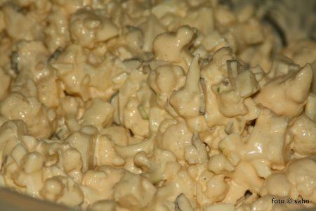 Blumenkohlsalat nach Kartoffelsalat-Art (Low Carb / Keto)