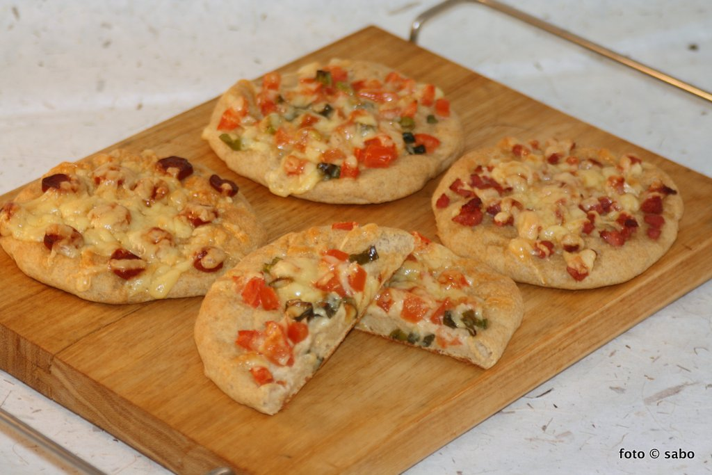 Kartoffelfaser-Pizzabrötchen (Low Carb)