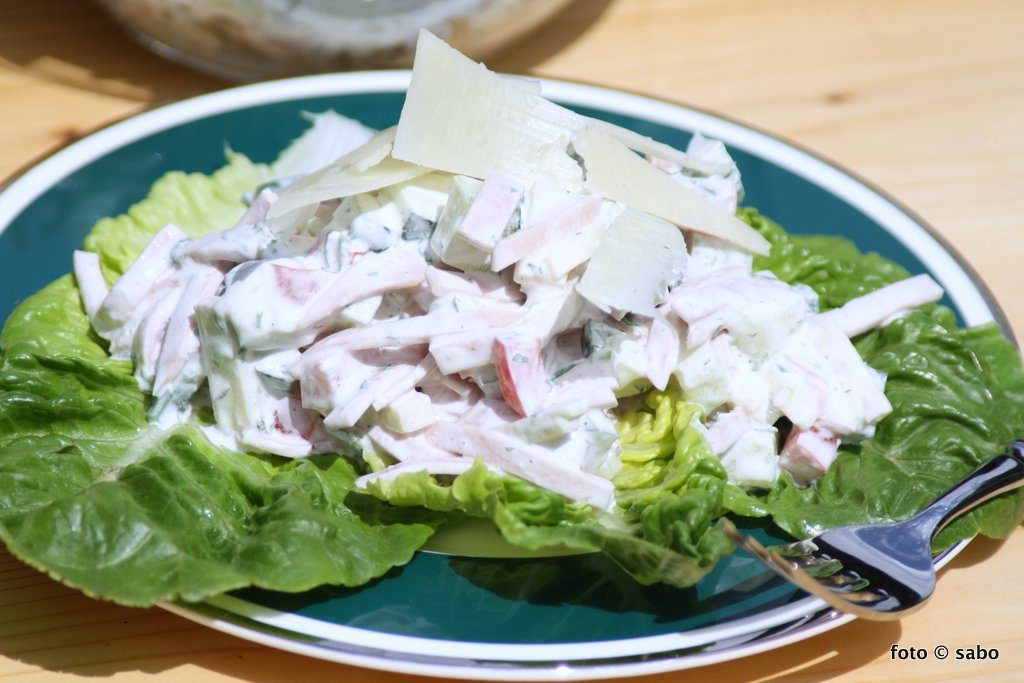 Wurst-Käse-Salat (Low Carb / Keto)