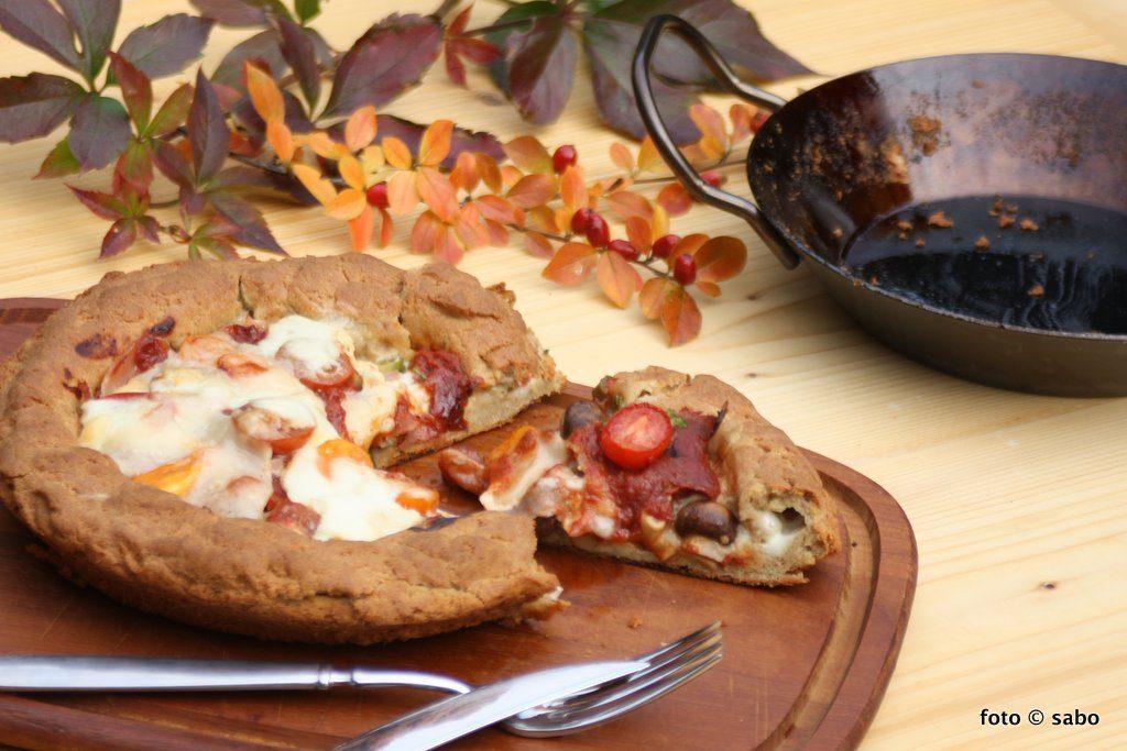 Pfannenpizza (Low Carb / Keto)